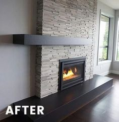 ideas home decored ideas livingroom fireplace stacked stones – Modern brick fireplace Living Room Decor Fireplace, Fireplace Tv Wall, Fireplace Remodel, Fireplace Design, Fireplace Mantels, Fireplace Ideas, Modern Fireplaces, Off Center Fireplace, Corner Stone Fireplace