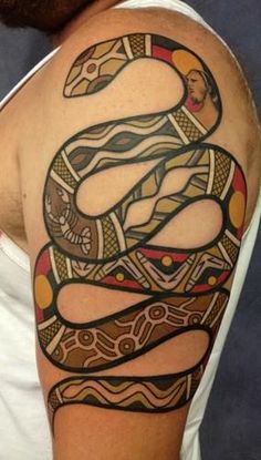 Australian Aboriginal style tattoos