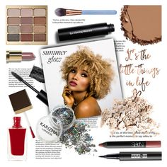 """Glowing Beauty"" by arrow1067 ❤ liked on Polyvore featuring beauty, Bobbi Brown Cosmetics, Urban Decay, Stila, NARS Cosmetics, Tom Ford, Luxie and summerglow"