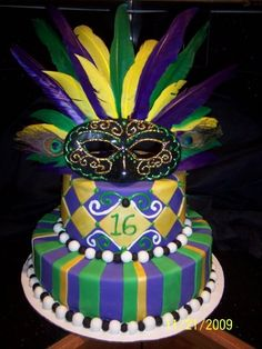 Cakes Of Color On Pinterest Ombre Cake Sweet 16