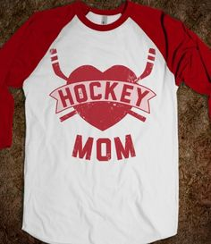 Hockey Mom (Baseball Tee)
