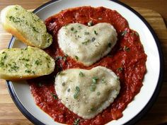 #Vegan Valentine's Day Ravioli plus recipe for Artichoke, Mushroom and Pine Nut Filling used on spaghetti