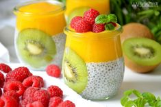 Easy Healthy Smoothie Recipes, Paleo Recipes, My Favorite Food, Favorite Recipes, Delicious Desserts, Yummy Food, Chia Pudding, Food N, Fruit Salad