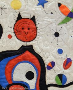 Miro -inspired quilt by  Ginny Steller.  World Painters Challenge.  2016 AQS, photo by Quilt Inspiration.