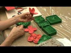 Crea Una Bellissima Rosa In Gomma Crepla - Fai da Te Creazioni - Guidecentral - YouTube Beaded Flowers, Paper Flowers, Cold Porcelain Tutorial, Felt Ornaments, Big Shot, Botanical Art, Christmas Crafts, Projects To Try, Make It Yourself