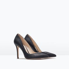 LEATHER COURT SHOE-High-heels-Shoes-WOMAN | ZARA United States