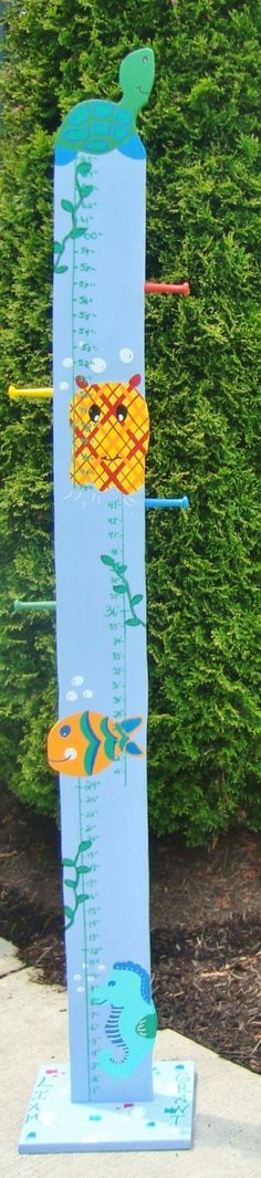 Ocean theme nursery growth chart #ocean #nursery #baby #mom #growthchart
