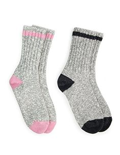 7f5231ce2f3 Amazon.com  Duray Women s 2 Pack Hiking Socks Style 1541B-02 Pink