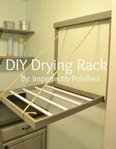 Laundry room is one of the most important parts of our homes but it is often neglected, especially in smaller homes. Check out these 10 great laundry room DIY projects for help. - Easy Diy Home Decor Laundry Room Organization, Organization Ideas, Storage Ideas, Diy House Projects, Diy House Ideas, Cabin Ideas, Diy Furniture, Wicker Furniture, Decoupage Furniture