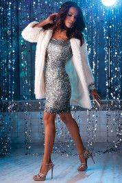 Glamour forever dress and glam fur topper