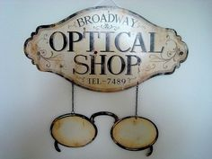 "Plaque publicitaire rétro ""Optical Shop"""