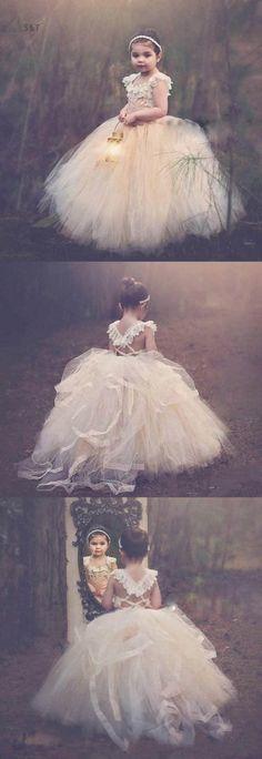 flower girl dress, long flower girl dress, cute flower girl dres,tutu