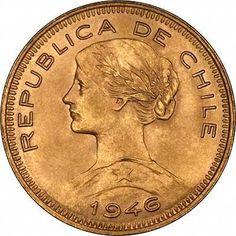 Chile 100 Pesos Gold Coins Random Dates