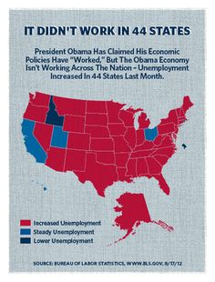 Obama's Plan Didn't Work In 44 States. Repin if you are ready for new leadership! #RomneyRyan2012
