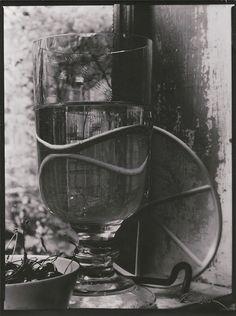 Josef Sudek, Still Life of Cherries and Glass, 1950′s
