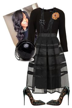 """District Meeting"" by cogic-fashion ❤ liked on Polyvore featuring Topshop, Temperley London, Christian Louboutin, Chanel and NOVICA"