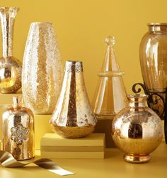 Pier 1 Amber Luster Vases look good with almost everything
