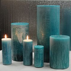 Teal Candles, Giant Candles, Square Candles, Rustic Candles, Large Candles, Pillar Candles, Candle Arrangements, Shadows, Turquoise