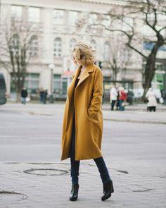 Mustard coat wool coat cashmere coat by SumarokovaAtelier on Etsy