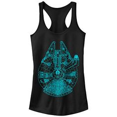 Star Wars Millennium Falcon Outline Juniors Graphic Racerback Tank -- Check out this great product.