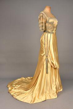 Ephemeral Elegance | Rhinestone Embellished Satin Evening Gown, ca....
