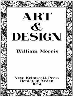Art and Design William Morris