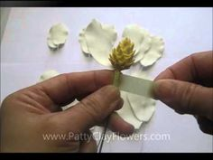 How to make Clay Flower Magnolia tutorial / Polymer Clay / Sugar Craft / Cake Decoration - YouTube