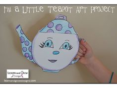 Learn and Grow Designs: I'm a Little Teapot Art Project and Miss Spider's Tea Party Activities