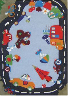 Rugs USA Cradle Roadway Blue Rug $205
