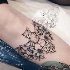 Bat tattoo on forearm blackwork by Katya Geta - Bat tattoo on forearm blackwork. - Bat tattoo on forearm blackwork by Katya Geta – Bat tattoo on forearm blackwork by Katya Geta - Skull Tatto, Neck Tatto, Ink Tattoo, Sternum Tattoo, Tummy Tattoo, Tattoo Flash, Pretty Tattoos, Love Tattoos, Beautiful Tattoos