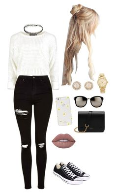 """""""Untitled #65"""" by inspire14 on Polyvore featuring Michael Kors, Kate Spade, Lime Crime, Linda Farrow, Topshop, Converse and Mulberry"""