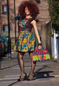 Shemesh-Skater-Dress ~Latest African fashion, Ankara, kitenge, African women dresses, African prints, African men's fashion, Nigerian style, Ghanaian fashion ~DKK
