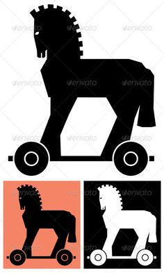 Decorative Trojan Horse Stylized illustration of the Trojan horse. No transparency and gradients used. CDR , AI, EPS , JPEG and PSD files. Created: GraphicsFilesIncluded: PhotoshopPSD Layered: Yes MinimumAdobeCSVersion: CS Tags: ancient # Troy Horse, Horse Birthday Parties, 7th Birthday, Horse Template, Experiment, Doodle Books, Sign Board Design, Horse Illustration, Horse Silhouette