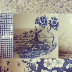 We love blue and white china! Here's a close up of a few of our pieces available for hire.
