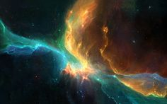 The Beauty of a space nebula.