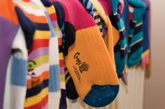 The way we work is to combine traditional knitting methods with more modern ones – so while high-tech machinery may be used for part of the production process, all of our socks are hand-finished using age-old hand-linking tools and techniques. It is this combination of the two that differentiates us from other companies.