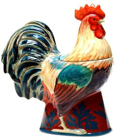 Certified International Rustic Rooster Figural Cookie Jar - Serveware - Dining & Entertaining - Macy's