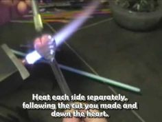 Lampwork Glass - Feathered Heart Tutorial - off mandrel - by Jeannie Cox