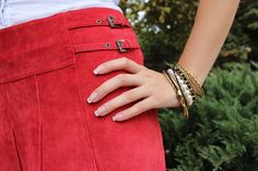 Lone Wolf Accents headchain #red #skirt #jewelry #bracelets #fashion #style #fashionblog