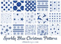 16 Free Sparkly Blue Background Patterns for the Holidays