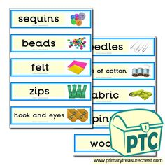 Classroom Equipment Drawer Labels & Posters - Primary Treasure Chest Teaching Activities, Teaching Ideas, Drawer Labels, Classroom Signs, Classroom Organisation, Treasure Chest, Crafts For Kids, Posters, Sewing