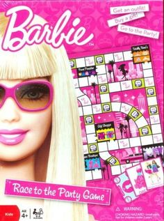 Barbie Race to the Party Board Game Price: $27.99 & FREE Shipping on orders over $35.  Only 1 left in stock. Barbie Games, Barbie Dolls, Game Prices, Party Games, Board Games, Free Shipping, Barbie Party Games, Tabletop Games, Barbie Doll
