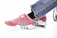size 40 c2d89 156d2 Coral pink White CQ2151 Adidas EQT Support ADV Primeknit 91 17 Sneakers On  foot Los Originales