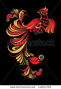 Find Hohloma Bird Illustration Traditional Russian Art stock images in HD and millions of other royalty-free stock photos, illustrations and vectors in the Shutterstock collection. Russian Folk Art, Ukrainian Art, Tole Painting, Fabric Painting, Russian Painting, Bird Illustration, Painting Inspiration, Embroidery Designs, Art Drawings