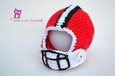 amigurumi amigurumi tiernos My Little Football Helmet patt Crochet Bebe, Crochet For Boys, Love Crochet, Crochet Hats, Knit Crochet, Crochet Football, Baby Shooting, Newborn Crochet Patterns, Amigurumi For Beginners