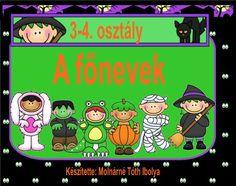 Magyar nyelv, főnevek, 3. osztály Diy For Kids, Grammar, Projects To Try, Family Guy, Album, Teaching, Education, Comics, School