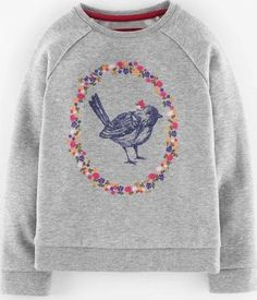 Mini Boden Woodland Animal Sweatshirt Grey Marl Bird Mini Choose from a charming Robin logo or a printed woodland theme on our cotton-rich sweatshirting. With our new casual raglan sleeves, this is effortlessly playful and pretty, as well as being brushed on http://www.comparestoreprices.co.uk/kids-clothes--girls/mini-boden-woodland-animal-sweatshirt-grey-marl-bird-mini.asp