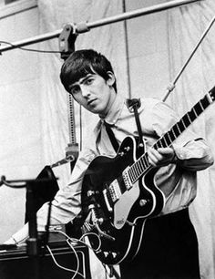 George Harrison<3 (with guitar)