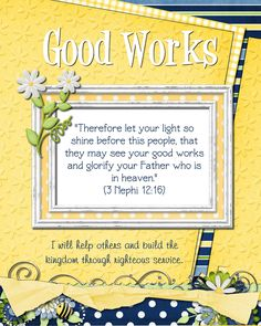 Activities centered around Good Works