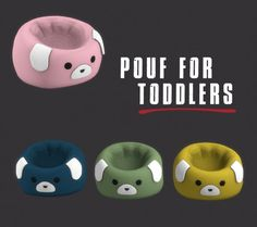 Leo Sims - Toddler Poufs for The Sims 4